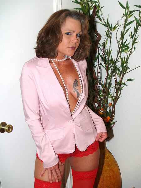 image Milf in kitty mask sucks cock and swallows